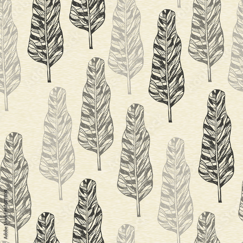 Panel Szklany Vector Seamless Pattern with trees