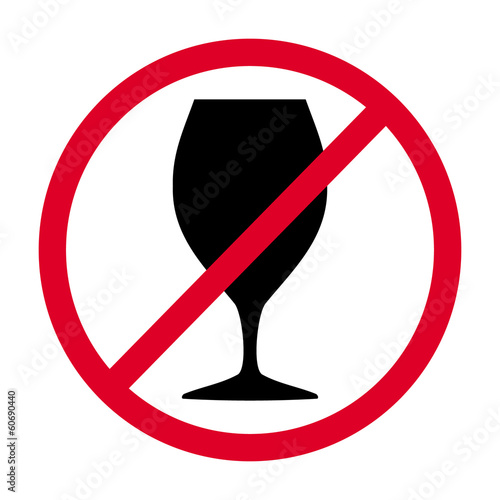 sign not drink, vector