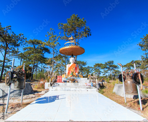 Buddha at Phu Kradueng national park, Loei province of Thailand