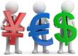 Männchen mit währungssymbole