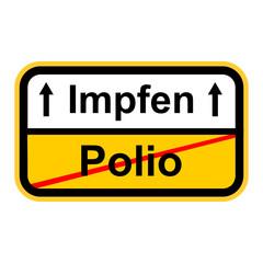 Polio Kinderlähmung Impfen
