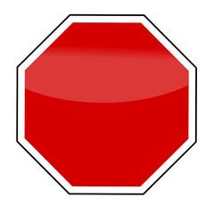 Leeres Stopschild
