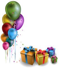 Geburtstag Party Ecke bunt