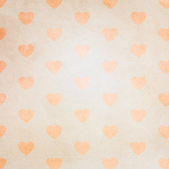 old paper grunge heart pattern