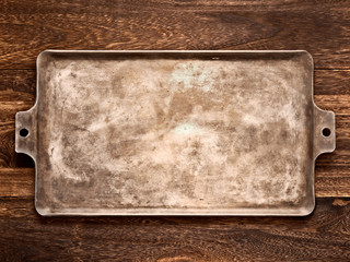 old rustic baking sheet