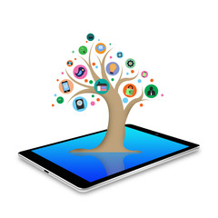 tree with social media  applications graphical user interface f