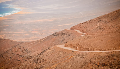 Mountain road on Fuerteventura