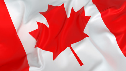 Glossy Canadian Flag