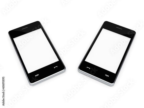 pair of smart phones