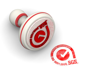 ISO 9001:2000 SGS. Печать и оттиск