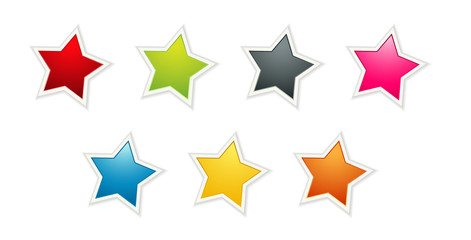 the set of seven color stars