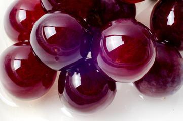 Macro shot of red grapes