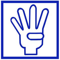 四本指のロゴマーク