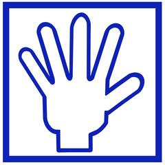 五本指のロゴマーク