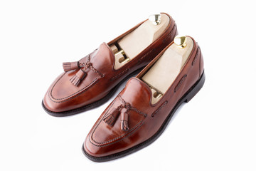 Luxury mens tasseled loafers