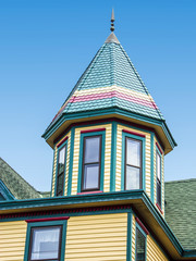 Roof of a house, Victorian style, Cape May, New Jersey, USA