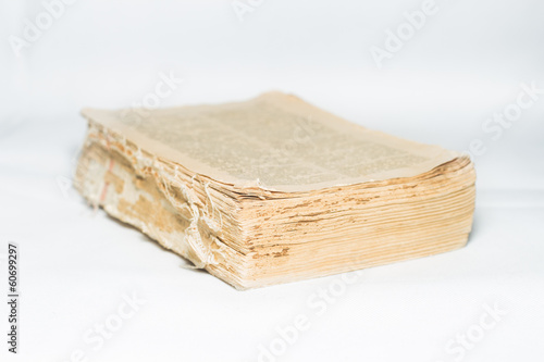 Old book without binding