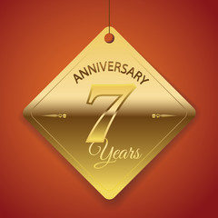 7th Anniversary poster / template/ tag design Vector Background