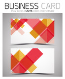 Vector CMYK business card design template