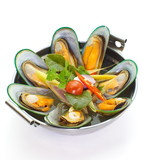 sea mussel and  lemon grass soup with mushroom