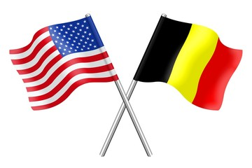 Flags: the United States and Belgium