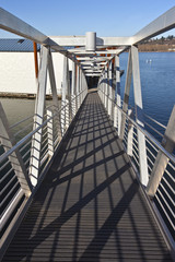 Pedestrian steel ladder and state parks Oregon.