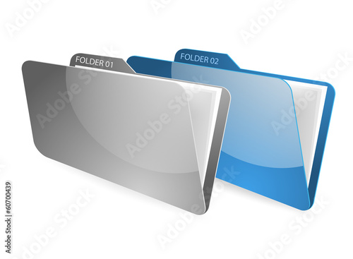 Folder and files on a white background