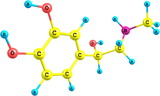 Adrenaline molecule on white background poster