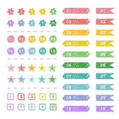 手描き数字のアイコン / vector eps