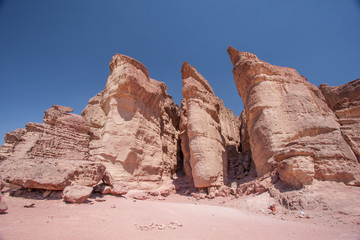 King Solomon Pillars in Timna Park, Israel