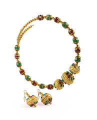 Indian Gold Necklace with Earrings