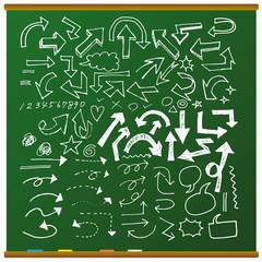 黒板・手描きチョーク素材