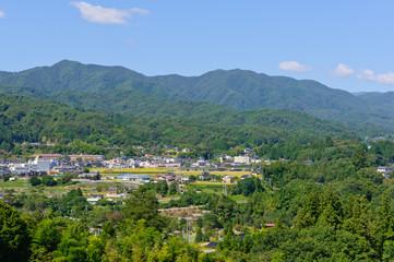 Landscape of Achi village in Southern Nagano, Japan