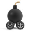 Bomb on wheels