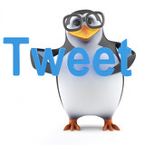 Academic penguin tweets