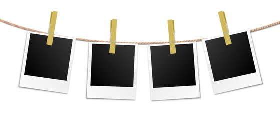 Wäscheleine Polaroids