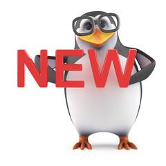 Academic penguin has something new
