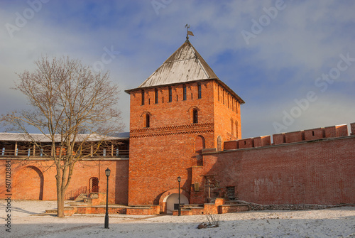 fortress in  ancient Russian city of Veliky Novgorod