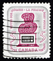 Postage stamp Canada 1967 Symbolic Woman and Ballot