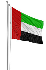 3D flag of United Arab Emirates