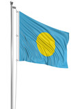 3D flag of Palau