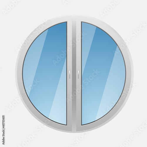 Round plastic window
