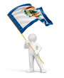 Man and flag of West Virginia (clipping path included)