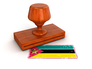 Rubber Stamp Mozambique flag (clipping path included)