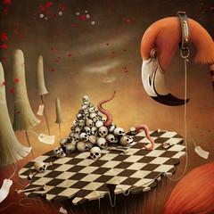 Fantastic illustration witn  Flamingo