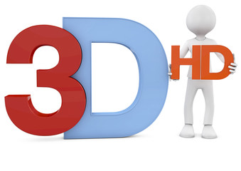 3d render of the 3d and hd text