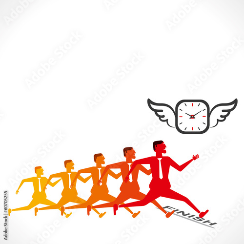 competition, complete work on time concept vector