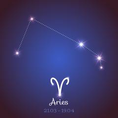 Vector zodiac horoscope constellation - Aries
