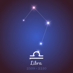 Vector zodiac horoscope constellation - Libra
