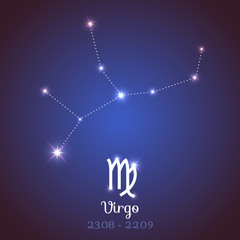 Vector zodiac horoscope constellation - Virgo